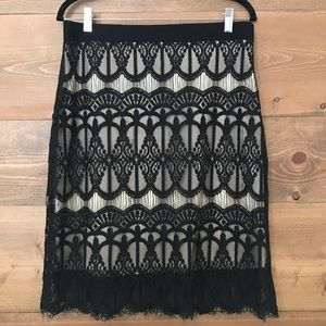 3/$16 Black lace skirt